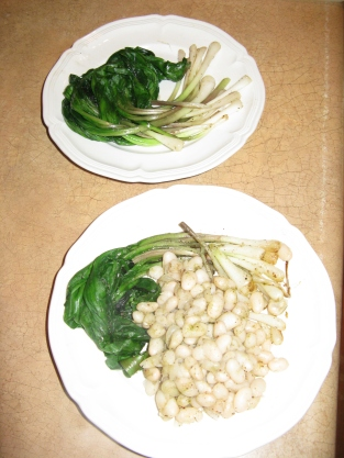 Cannelini Beans, Zatar and Wild Leeks