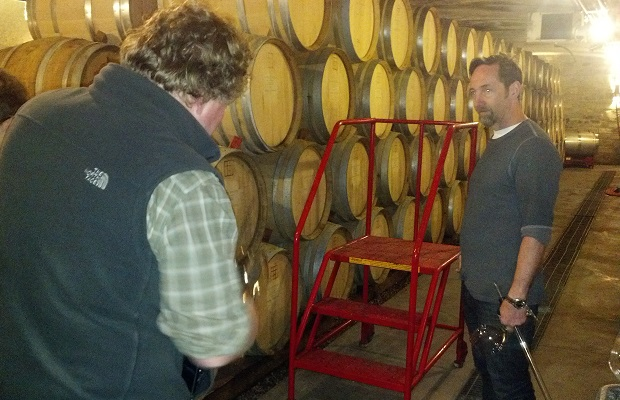 Norm Hardie and Paul Pender in the Tawse Barrel Cellar