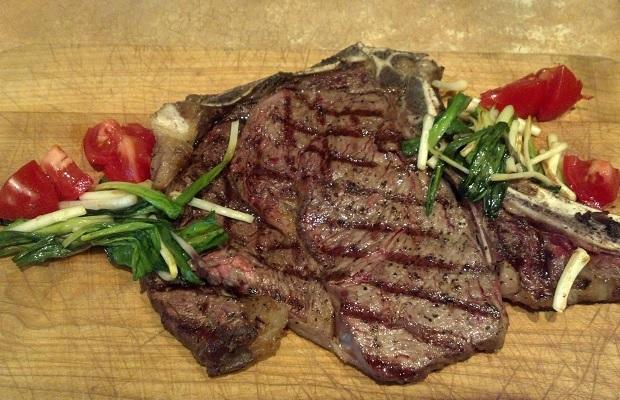 Rib Steak and Ramps PHOTO: Michael Godel