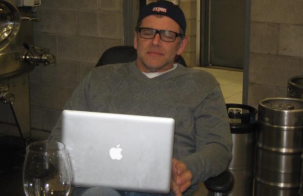 Bill Zacharkiw making notes at Pearl Morissette