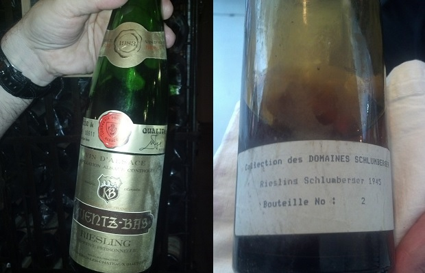 Kuentz-Bas Riesling 1983 and Domaines Schlumberger Riesling Grand Cru Kitterlé 1945
