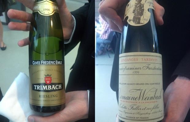 Trimbach Cuvée Frédéric Emile 1990 and Domaine Weinbach Gewurztraminer Furstentum 1994