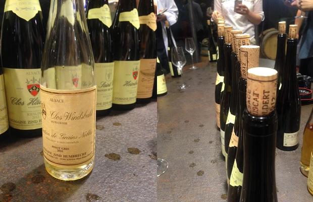 Pinot Gris Clos Windsbuhl Sélection de Grains Nobles 2010 and the tasting table PHOTO: Cassidy Havens, http://teuwen.com/