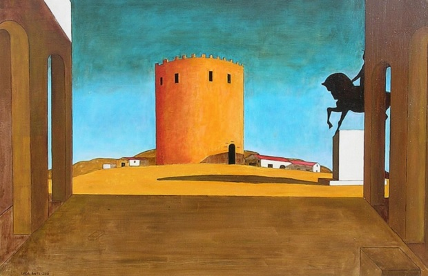 Giorgio de Chirico, The Red Tower http://www.guggenheim.org/new-york/collections/collection-online/artwork/853