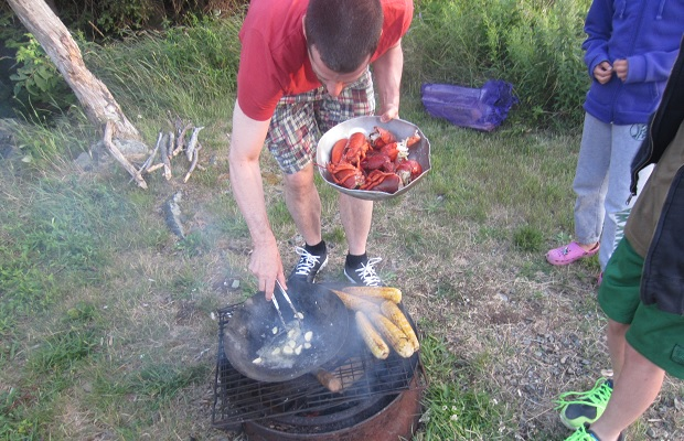 Cooking lobster on Grand Manan