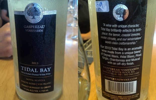Gaspereau Vineyards Tidal Bay 2013