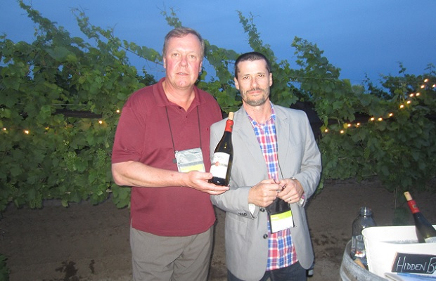 Godello and Harald Thiel of Hidden Bench Winery