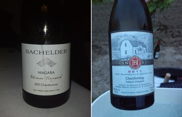 Bachelder Wismer Vineyard Chardonnay 2011 and Hidden Bench Felseck Chardonnay 2011