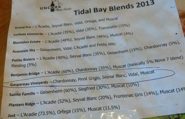 Tidal Bay Blends 2013