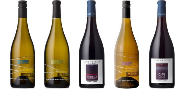 Laughing Stock Pinot Gris 2013, Laughing Stock Blind Trust White 2013, Upper Bench Zweigelt 2012, Laughing Stock Viognier 2013, Upper Bench Pinot Noir 2012