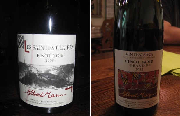 Domaine Albert Mann Pinot Noir Les Saintes Claires 2008 and Grand P 2012