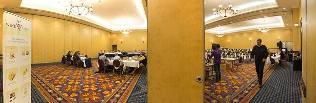 Panorama of judging and wines at WWAC14 Photo: Jason Dziver (www.jasondziver.com)