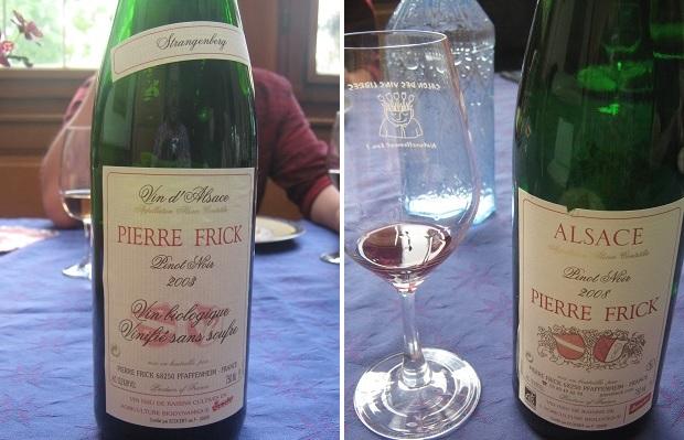 Pierre Frick Pinot Noir Strangenberg 2003 and Pinot Noir 2008