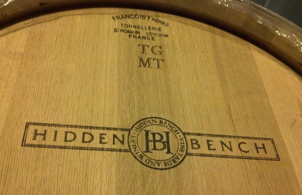 French cask in the Hidden Bench cellar