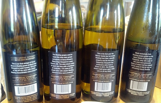 The Rieslings of Gaspereau Vineyards - Back Labels