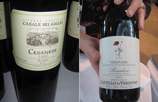 Casale Del Giglio Cesanese 2012 and Castello Di Verduno Pelaverga Basadone 2013