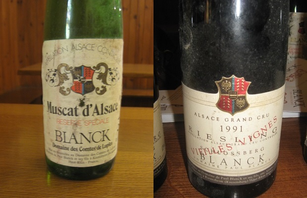 Paul Blanck Muscat d'Alsace Réserve Spéciale 1983 and Riesling Vieilles Vignes Grand Cru Schlossberg 1991