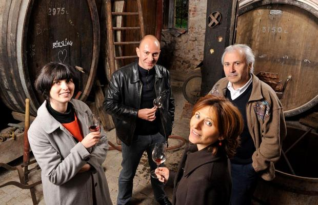 Céline Meyer, Christophe Ehrhart, Isabelle Meyer and Jean Meyer, Domaine Josmeyer photo (c): https://www.facebook.com/pages/Domaine-Josmeyer/140625599300808?fref=ts
