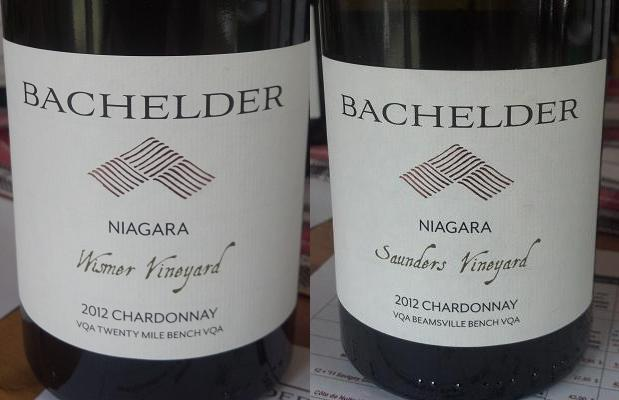 Niagara Chardonnay Wismer Vineyard 2012 and Niagara Chardonnay Saunders Vineyard 2012