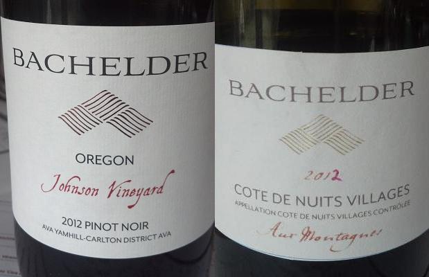Pinot Noir Johnson Vineyard Oregon 2012 and Côtes De Nuits Villages Aux Montagnes 2012