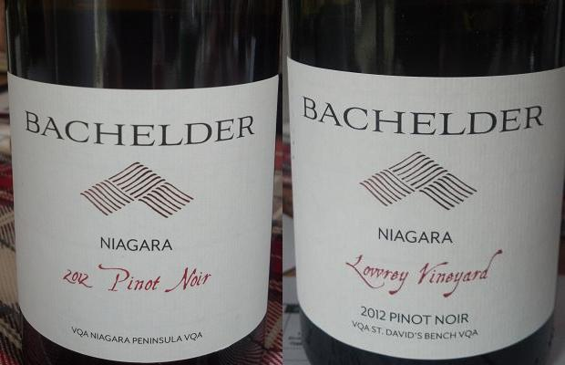 Pinot Noir Niagara 2012 and Pinot Noir Lowrey Vineyard 2012