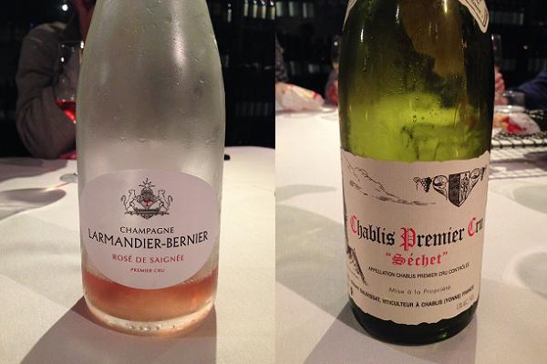 """Larmandier-Bernier Champagne Rosé de Saignée Premier Cru NV and Domaine Dauvissat Chablis Premier Cru """"Séchet"""" 2009"""