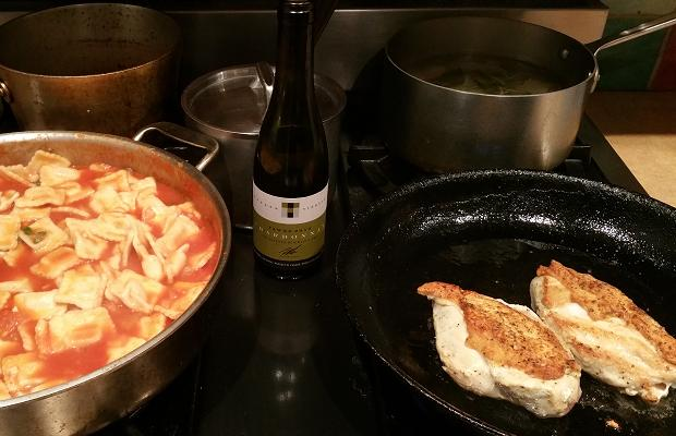 Tawse Estate Chardonnay 2010, Two Chicken Breasts and Red Sauce