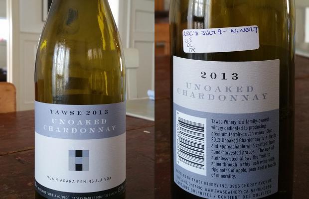 Tawse Unoaked Chardonnay 2013