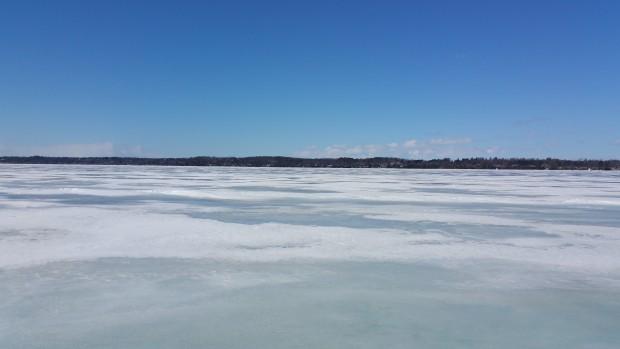 Lake yet frozen, March 18, 2015