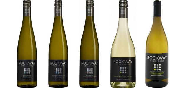 From left to right: Block Blend Riesling 2013, Small Lot Riesling Block 150 183 2013, Small Lot Gewürztraminer 2013, Chardonnay 23 77 2013 and Small Lot Block 12 110 Chardonnay Wild Ferment 2013