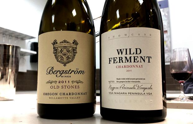 Bergstrom Old Stones Chardonnay 2011 and Hillebrand Showcase Series Wild Ferment Chardonnay 2011