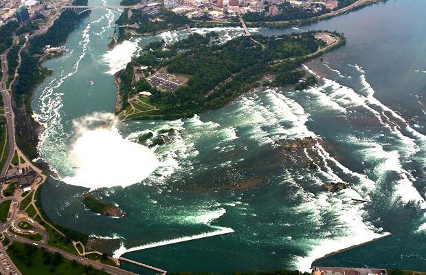Niagara Falls from aboard Niagara Helicopters