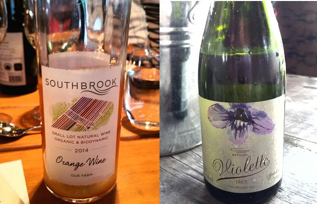 Soubrook Whimsy! Orange 2014 and Westcott Vineyards Violette Sparkling
