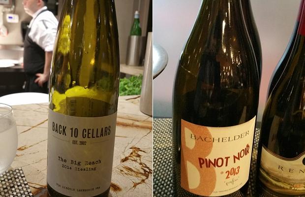 Back 10 Cellars The Big Reach Riesling 2013 and Bachelder Pinot Noir Parfum 2013
