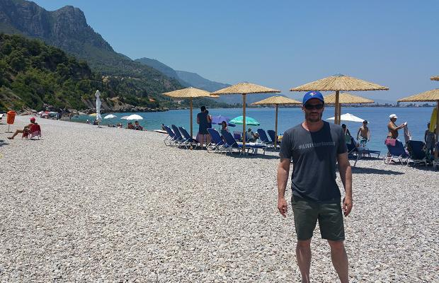 Godello on the beach at Pounta, Patras, Greece