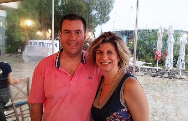 Konstantinos Lazarakis M.W. and Sofia Perpera, New Wines of Greece at the Sailing Club Restaurant, Patras