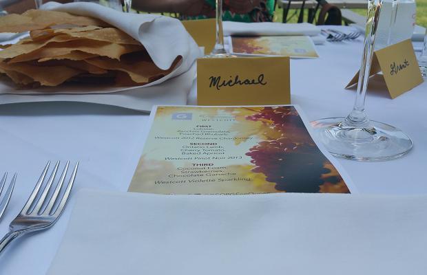 Lunch at Westcott Vineyards