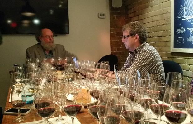 Stratus winemaker J-L Groux and WineAlign's David Lawrason