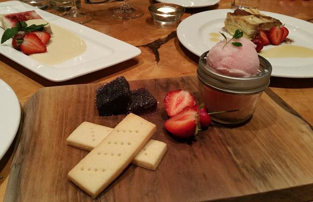 Desserts at Le Caveau, Domaine de Grand Pré Vineyards, Wolfville, Nova Scotia