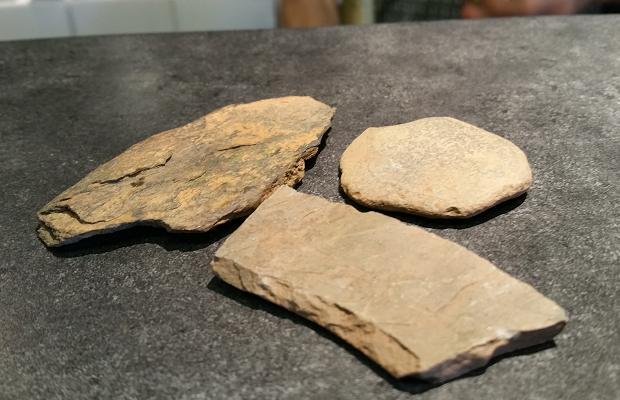 Glacial till stones of L'Acadie Vineyards