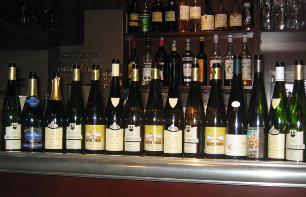 Dinner wines at L'Epicurien, Colmar