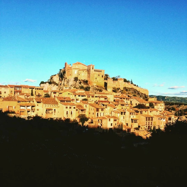 """As we gaze out on, as we gaze out on,"" #alquezar #somontano #pyrenees"