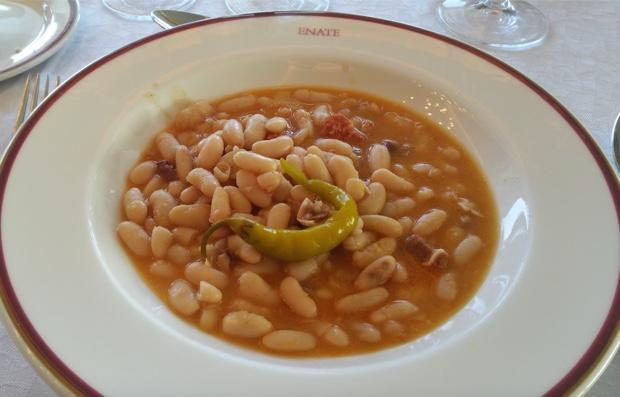 Alubias Estafadas and Guindilla, Bodega Enate, Somontano