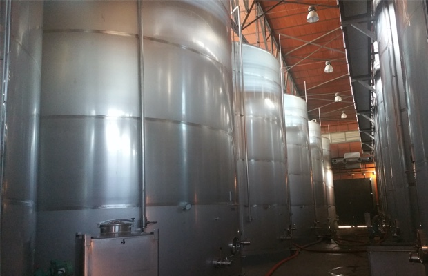 Big tanks of Bodega Enate, Somontano