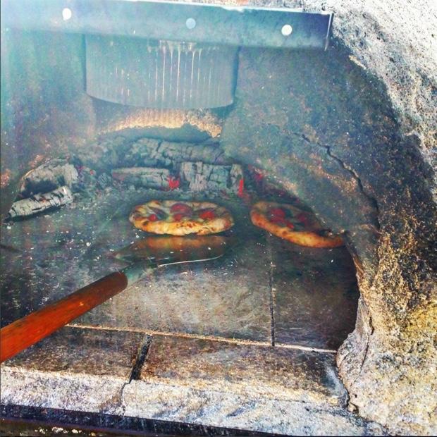 Pizza by Geoff Heinricks at The Old Third Vineyard