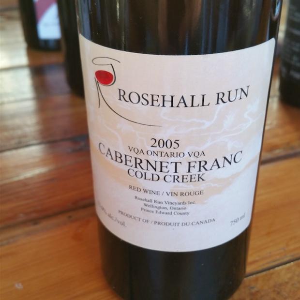 Rosehall Run Cabernet Franc Cold Creek 2005