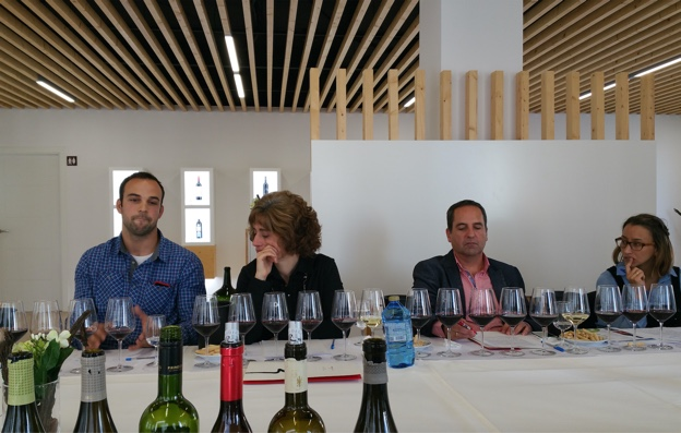 Somontano winemakers at Bodega Pirineos