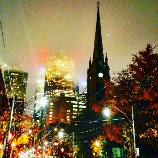 Star shrouded downtown Toronto