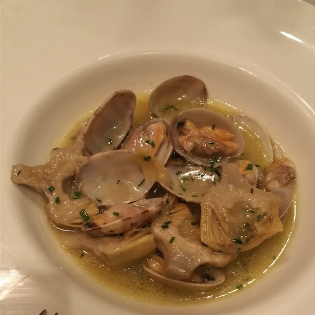 Artichokes and clams, Restraurante Palomeque, Zaragoza