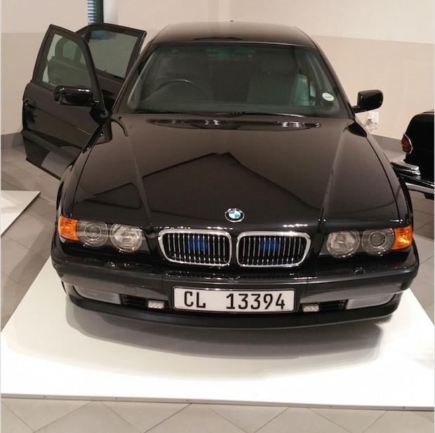 Nelson Mandels's BMW 7 Series Security Edition, Franschhoek Motor Museum